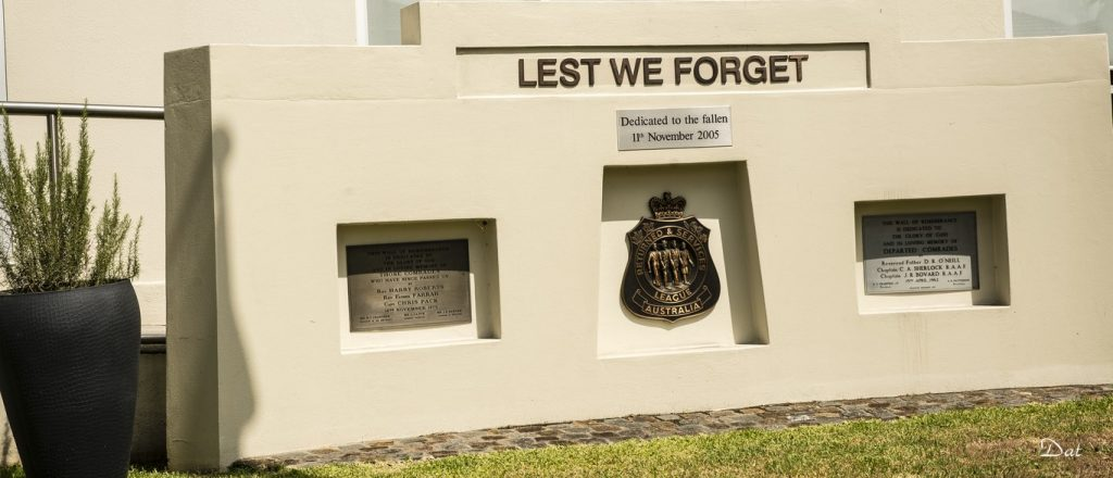 Photo of the cenotaph at Bass Hill RSL Club
