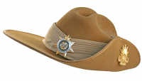 Stock image of Australian Army slouch hat synonymous with ANZAC Day